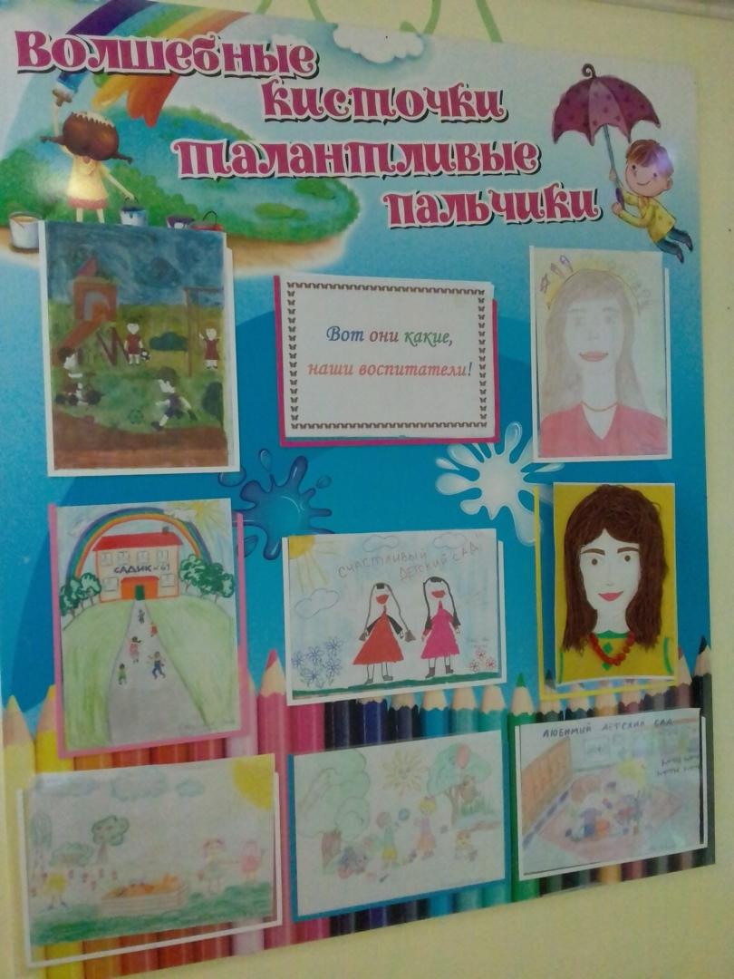 """Выставка детских рисунков """"Вот они какие, наши воспитатели!"""""""
